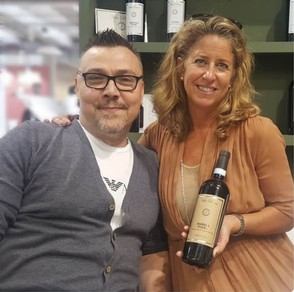 Nina Snow and Teresio of Villa Penna Winemaker