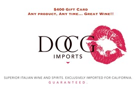 DOCG Imports $400 Gift Card